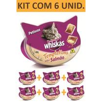 Petisco Gato Whiskas Templations Salmao - Kit Com 6 Unidades