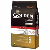 Ração Golden Gatos Adultos Carne 1 Kg