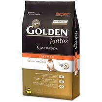 Ração Para Gatos Castrados Adultos Golden 10kg - Salmão.