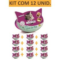 Petisco Gato Whiskas Anti Bola De Pelo - Kit Com 12 Unidades