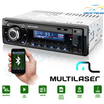 Rádio Mp3 Player Automotivo Usb Talk Multilaser Bluetooth