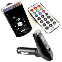 Transmissor Para Carro Fm Mp3 Usb Wireless Cartão Lcd Auto