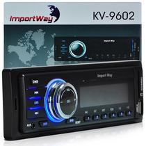 Auto Radio Player Som Automotivo Mp3 Fm Usb Para Pendrive Sd