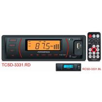 Mp3 Player Automotivo Powerpack 3331 Controle + Fm + Usb