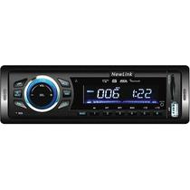 Radio Para Carro Bluetooth Tela Lcd Com Led Azul 180w Rms