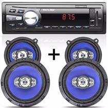 Rádio Mp3 Automotivo + Kit Falante 5/6 Do Gol G3 G4 G5 G6
