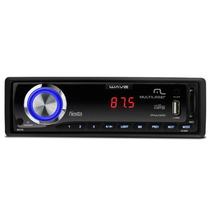 Mp3 Automotivo Multilaser Wave Fiesta 7 Cores Usb Sd Fm Aux