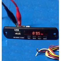 Placa - Leitor De Usb - Fm - Controle Modulo Mp3