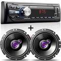 Auto Radio Mp3 Player Automotivo + 02 Falante 6 Pioneer 200w