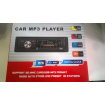 Radio Automotivo De Carro Am/fm Usb Mp3 Cartão Sd C/ Contro