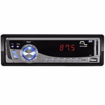 Auto Radio Automotivo Mp3 Multilaser Silver P3167 Usb Sd Fm