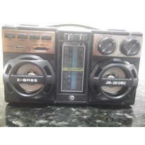 Caixa Som Super Potente Sd/ Usb Mp3,mp4 Radio Am E Fm
