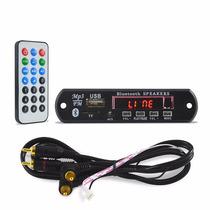 Placa Mp3 Player P Caixa Ativa Usb Sd Bluetooth Fm Aux Rca