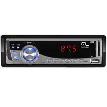 Radio Mp3 Multilaser Automotivo 4 X 45w Usb Silver P3167 Sd