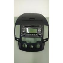 Rádio E Painel Frontal Original P/ Hyundai I30 Ar Analógico