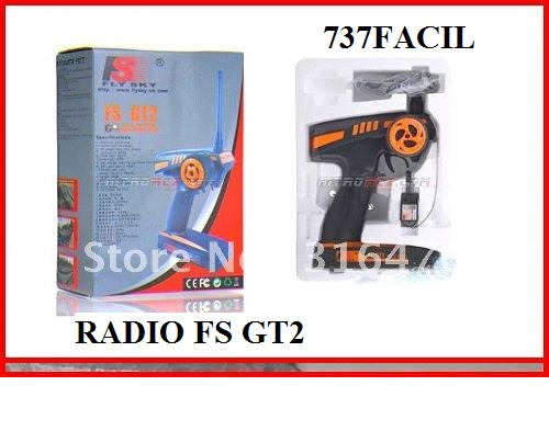 Radio Transmissor E Receptor Rc 2.4g Fs-gt2 2ch