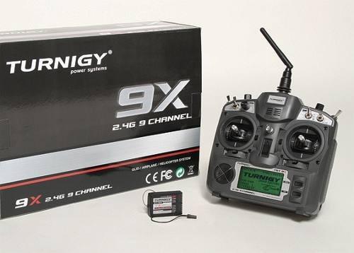 Radio Turnigy 9x - 09 Canais 2.4ghz E Receptor 08 Ch V2