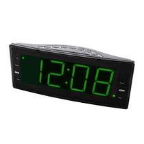 Rádio-relógio Digital Am/fm C/ Alarme E Saida Usb P/ Carga