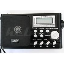 Rádio Portátil Midi Md-5510 Usb Am/fm Mp3 Player