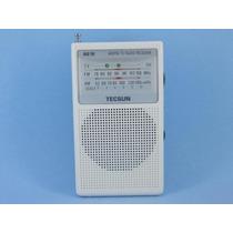 Rádio Tecsun R-218 (branco) Am/fm/tv Receiver Radio Pocket