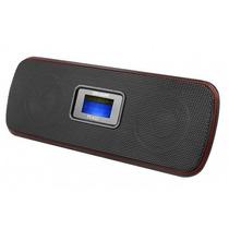 Som Portátil Mp3 Rádio Relógio Gravador Caixa De Som 5 Em 1