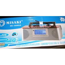 Radio Digital Despertador Alarme Usb /sd Recarregavel