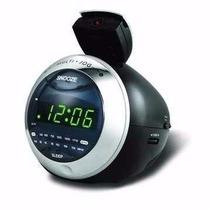 Rádio Relógio Am/fm Powerpack Com Projetor Rf-533 Na Caixa