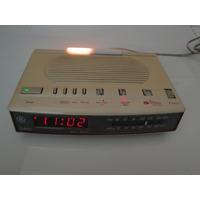 Antigo Rádio Relógio General Eletrics Softlite Otimo Estado