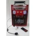 Caixa Som C Microfone Karaoke Gravador Voz Usb Pen Drive 742