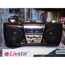 Radio Livistar Usb/sd Recarregavel