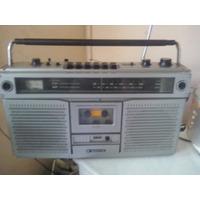 Rádio Bombox Sanyo 9922 F Funcionando Radio E Toca Fita
