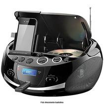 Rádio Portátil Boombox Sp157 20w Usb Sd Fm Cd Dock Statio