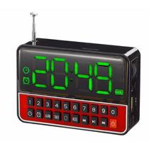 Rádio Fm Vintage Digital Mp3 Sd Usb Auxiliar Com Despertador