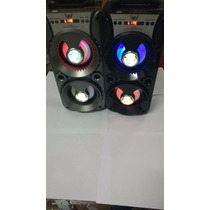 Caixa De Som Amplificada Bateria Usb Mp3 Radio Fm