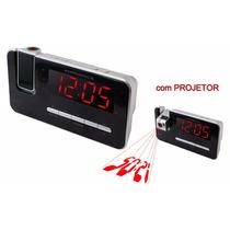 Rádio Relógio Fm Com Projetor Rf-232n Powerpack Promoção !!!