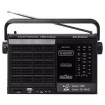 Rádio Motobras 3 Faixas Com Entrada Usb E Memory Card
