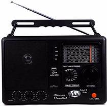 Rádio Portátil 12 Faixas Am Fm Oc Motobras Com Entrada Usb