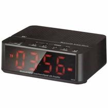 Rádio Relógio Digital Despertador Bluetooth Fm Mp3 Usb Sd
