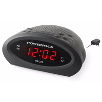 Radio Relogio Powerpack Ra-221.bk-bivolt Auto-lindo Lançam !