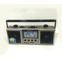 Rádio Portátil Am/fm Usb Cartão Sd Caixa De Som Recarregável
