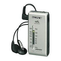 Rádio Sony Srf-s84 Am/fm Stéreo Walkman Cor Prata