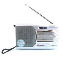 Rádio Am Fm + Fone Philips + 4 Pilhas Aa Portátil E Pequeno