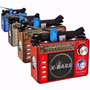 Rádio Portátil Am Fm Sw Usb Cartão Sd Lanterna Recarregável