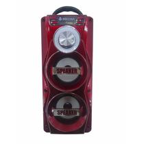 Caixa De Som Amplificada Bateria Microfone Usb Mp3 Radio Fm