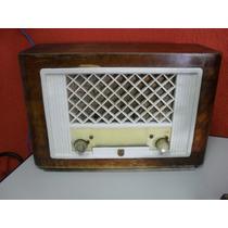 Radio Philips Caixa De Madeira Antigo