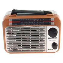 Rádio Vintage Pequeno Marrom - Ubs/ Cartão Sd/ Fm - 17x13 Cm