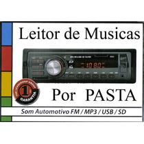 Auto Radio Mp3 Player Usb Pendrive Fm Sd+ Nfe+ Frete Grátis!