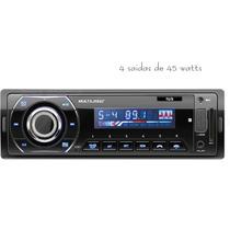 Mp3 Automotivo Multilaser Bluetooth, Rádio Fm,usb, Sd E Aux