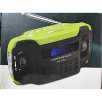 Radio Verde Ecologico Movido À Manivela Com 10 Bandas