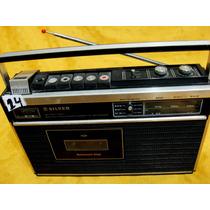 Rádio Gravador Silver Rt-31-aparelho Raro Japonês Funcionaok